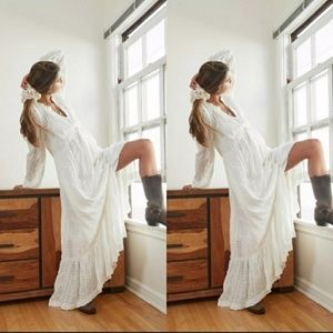 Free People Edie white Maxi Dress